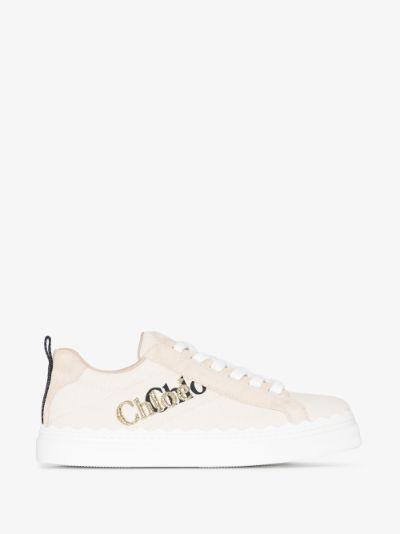 Neutral Lauren Logo Sneakers