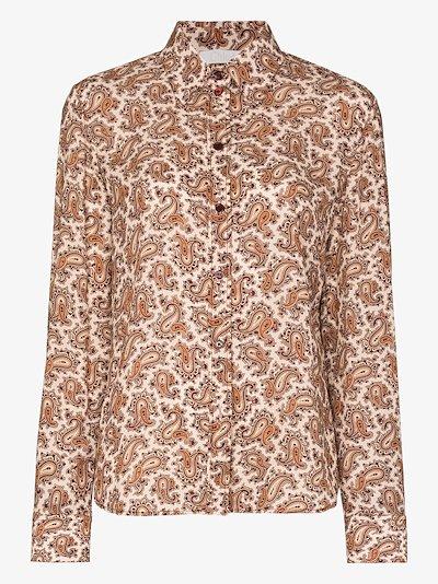 paisley print silk shirt