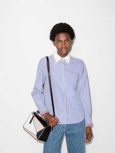 pinstripe buttoned shirt