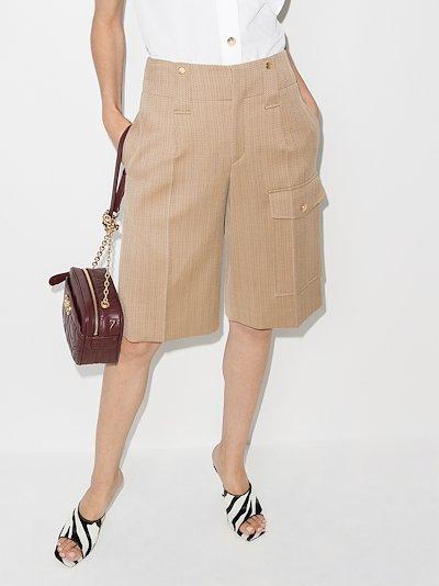 pinstripe cargo shorts