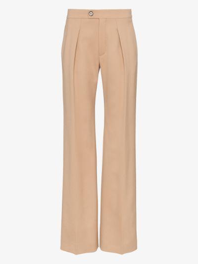pleated virgin wool trousers