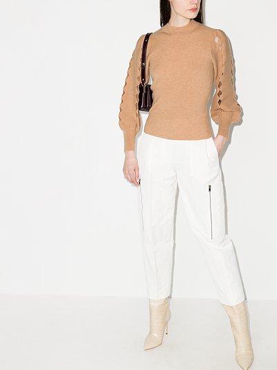 Scalloped Cutout wool Sweater