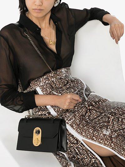 Black Elisa leather shoulder bag