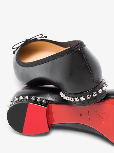 Black Hall leather pumps