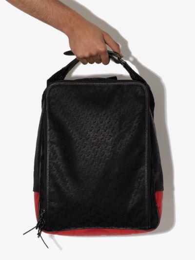 black Hop'n Zip leather trim backpack
