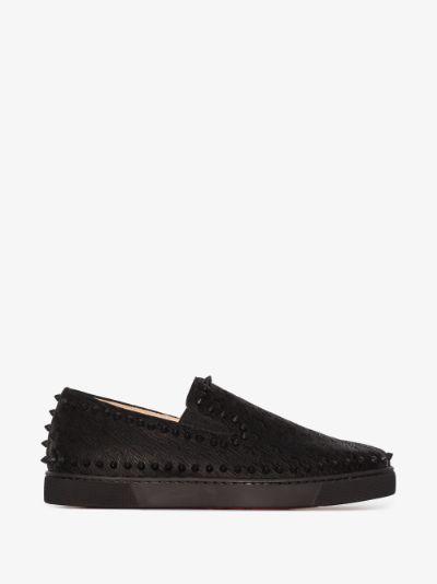 black Pik Boat sneakers
