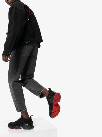 black spike sock 30 neoprene sneakers