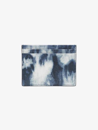 blue Kios tie-dye leather card holder