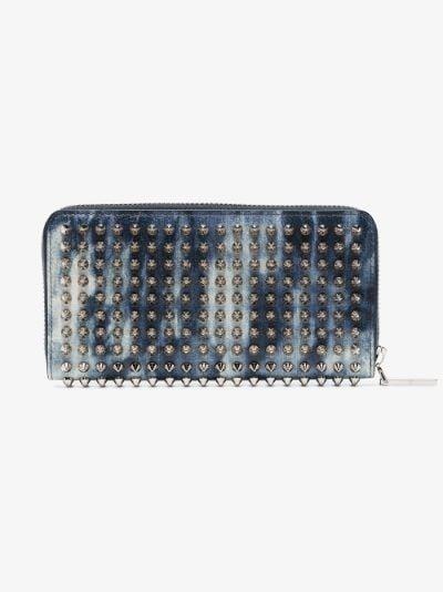 blue Panettone tie-dye leather wallet
