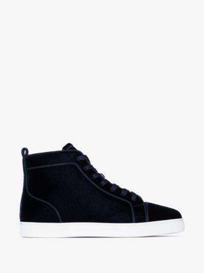 navy Orlato velvet sneakers
