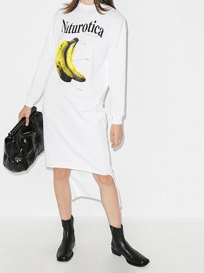 banana jersey dress