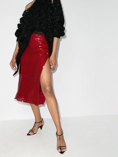 Chain mail Midi Skirt