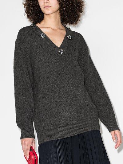 crystal embellished sweater