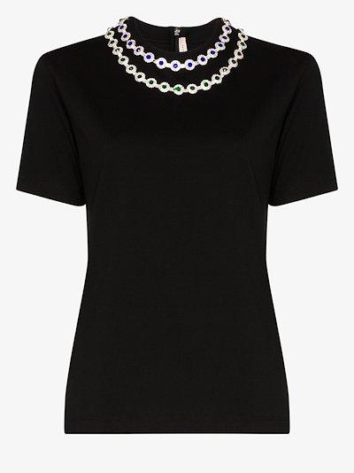 crystal embellished T-shirt