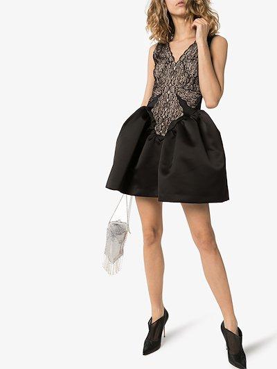 Cupcake satin and lace mini dress