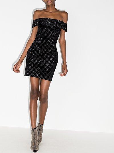 glitter velvet Mini Dress