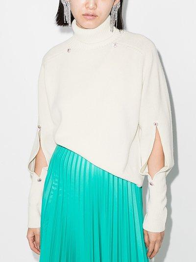 slash sleeve cashmere jumper