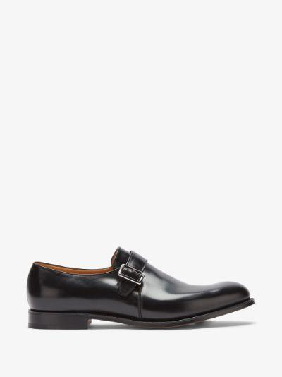Black Lisbon leather monk shoes
