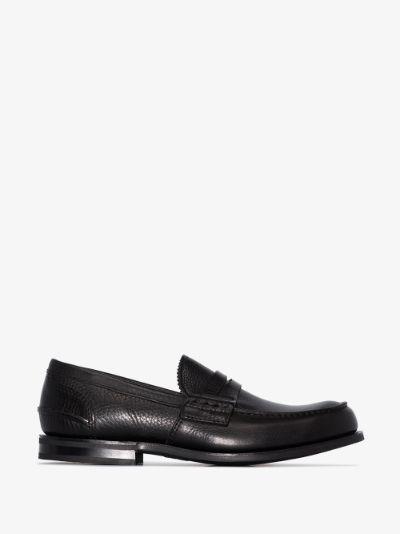 black Pembrey leather loafers
