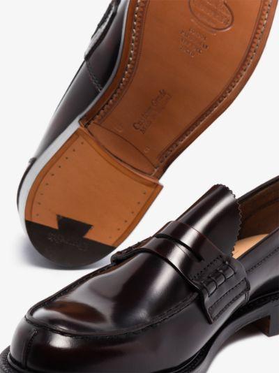 burgundy Tunbridge leather penny loafers