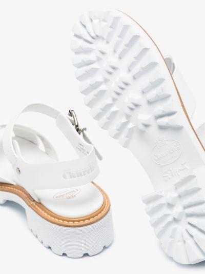 white Gaia 40 leather sandals