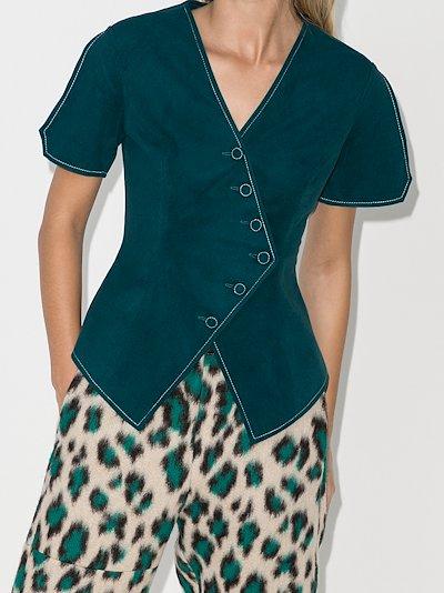 X Homecoming asymmetric short sleeve waistcoat