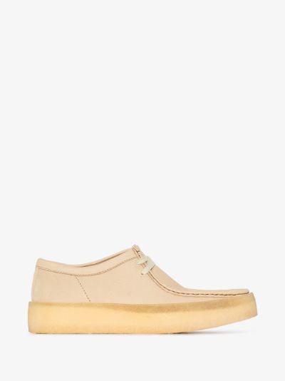 beige Wallabee Cup nubuck shoes