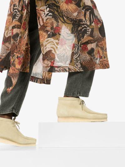 beige wallabee suede boots