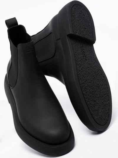 black Mileno leather Chelsea boots
