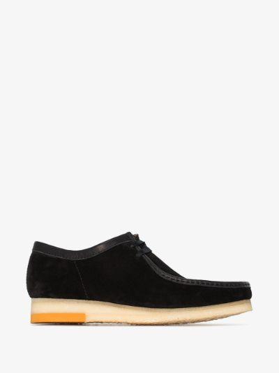 black suede Wallabee shoes