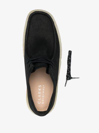 black Wallabee Cup suede shoes