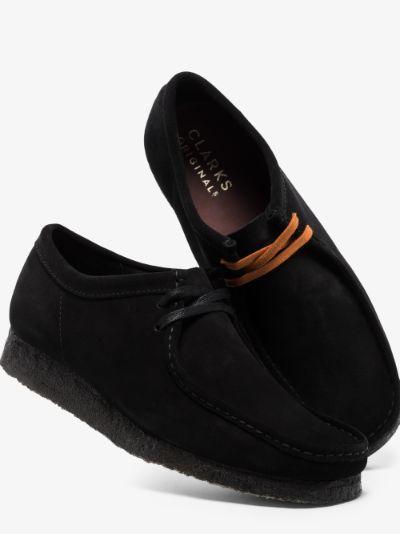 Black Wallabee Suede Shoes