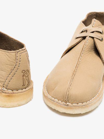 Neutral Desert Trek Leather Shoes