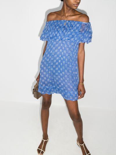 Alma off-the-shoulder silk dress