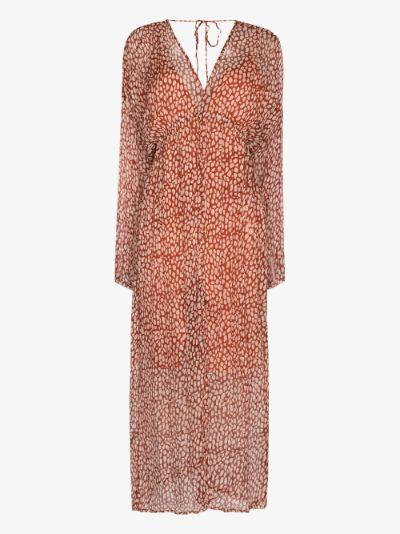 Iman crinkled silk midi dress