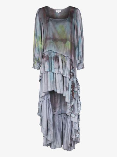 Garden tie-dye silk dress