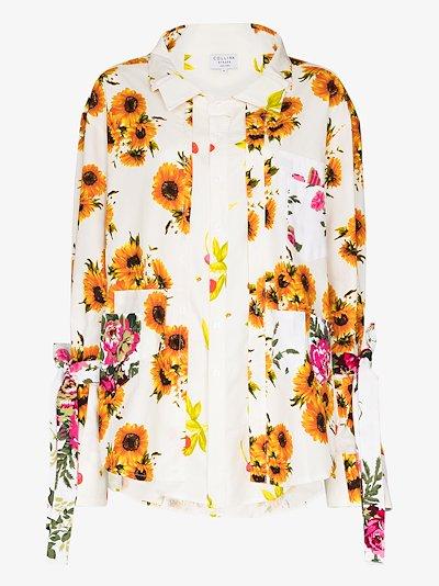 Kantamanto floral button-up shirt