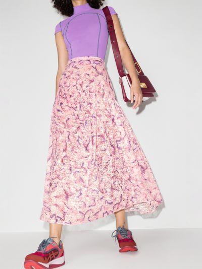 Mariposa lace midi skirt
