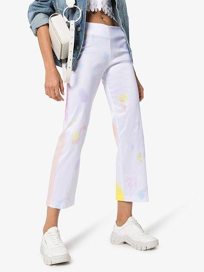 Mariposa tie-dye cropped trousers