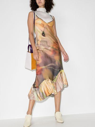 Michi floral silk midi dress