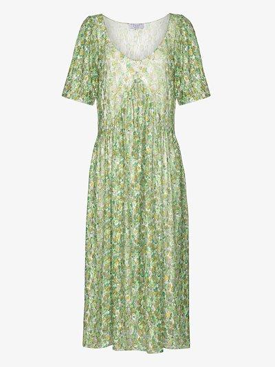 Princess Mariposa floral lace midi dress