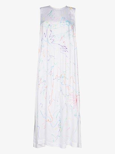 Ritual scribble print maxi dress