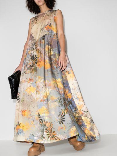 Ritual sleeveless floral silk dress