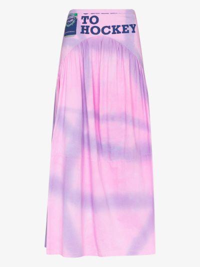 X Browns 50 Mariposa tie-dye maxi skirt
