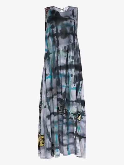 X Browns 50 Ritual tie-dye maxi dress