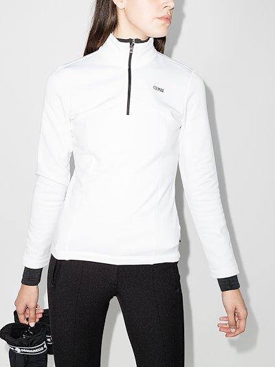 half-zip ski sweatshirt