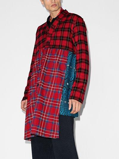 patchwork tartan shirt