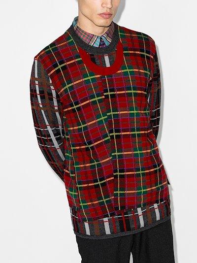 patchwork tartan sweater