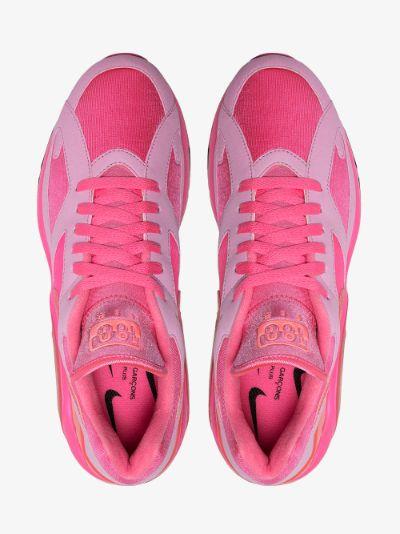 Comme Des Garçons Homme Plus Pink CDG X Nike Air Max 180 Sneakers ...