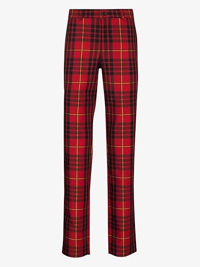 tartan skinny trousers